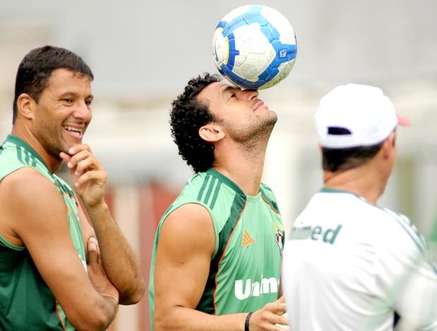 Washington e Fred treino Fluminense
