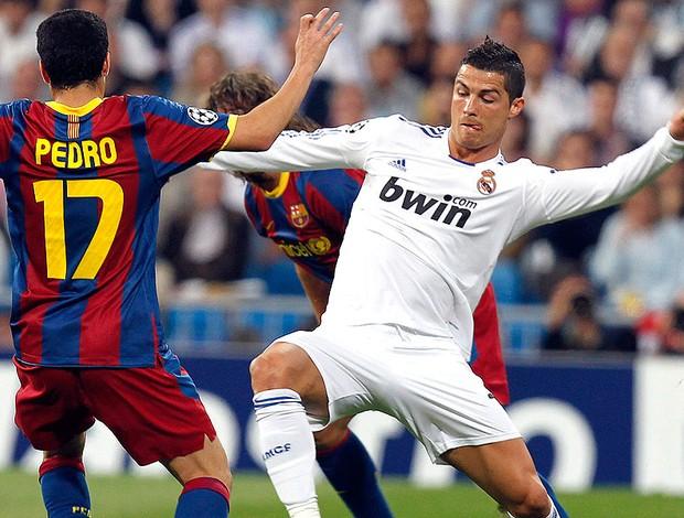 Cristiano Ronaldo na partida do Real Madrid contra o Barcelona (Foto: EFE)