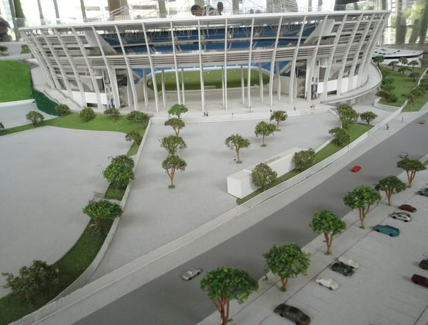Maquete Arena Fonte Nova (Foto: Raphael Carneiro/Globoesporte.com)