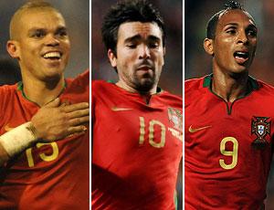 Pepe, Deco e Liedson, jogadores naturalizados portugueses