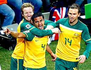 Comemoração Cahill gol Austrália