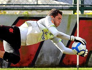 Marcelo Lomba no treino do Flamengo (Foto: Cezar Loureiro / Agência O Globo)