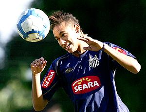 Neymar treino Santos