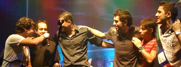 FRAME - Muricy, Washington Conca e Marquinho cantando sertanejo