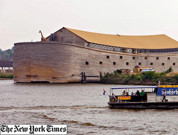 arca especial construída para os jogos Olímpicos de 2012 em Londres (Foto: Reprodução / The New York Times)