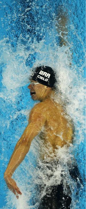 Cesar Cielo ouro nos 50m livre Mundial de Xangai natação (Foto: Getty Images)