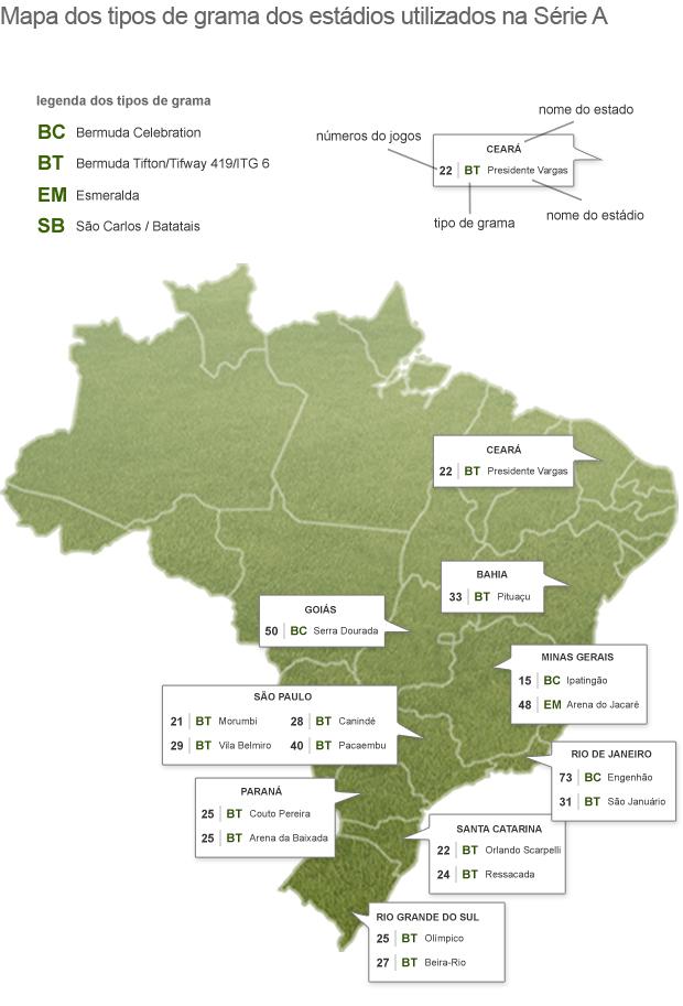 mapa gramas (Foto: arte esporte)