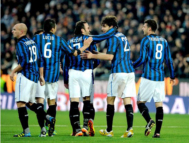 Andrea Ranocchia Internazionale de mião gol cesena (Foto: Agência Getty Images)