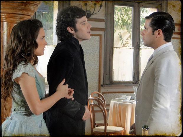 Felipe desafia Timóteo para um duelo (Foto: Cordel Encantado/TVGlobo)