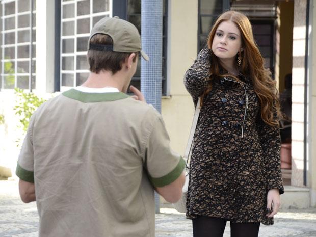 Alice desdenha de Guilherme e garante que vai rir do ex (Foto: Morde&Assopra/TVGlobo)