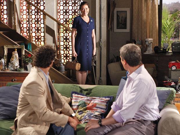 Produção de Amália faz sucesso com René e Guaracy (Foto: Fina estampa/ TV Globo)