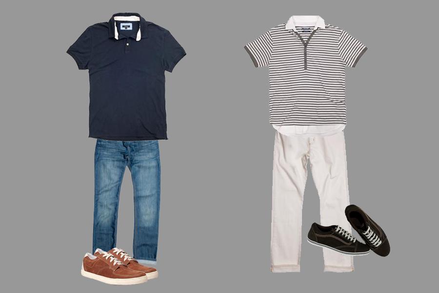 Calças jeans claras ou de sarja ao ar jovem ao visual.