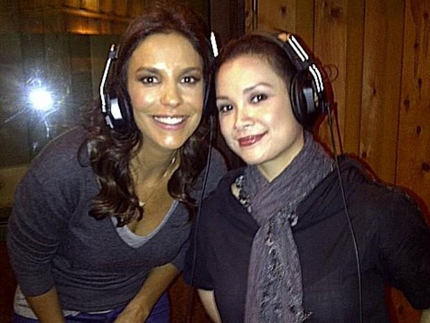 Ivete Sangalo nos bastidores do Avon Voices, em Nova York (Foto: Twitter / Reprodução)