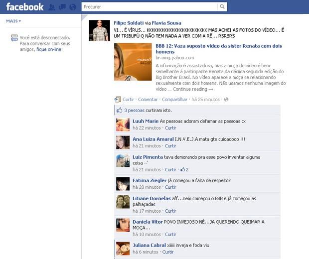 Filipe Soldati no Facebook (Foto: Reprodução/Facebook)