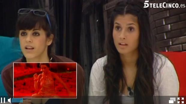 Reação das mulheres ao vídeo de Laisa (Foto: Reprodução / Gran Hermano)
