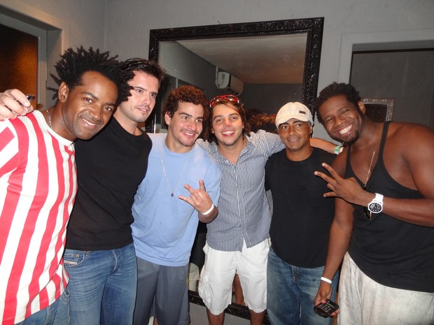 Romário com Thiago martins e Trio Ternura em Jurerê Internacional (Foto: Ana Paula Lima / Divulgação)