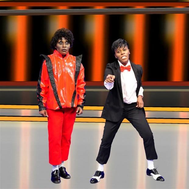 Pepê e Neném se transformam em Michael Jackson (Foto: Renata de Paula / REDETV!)