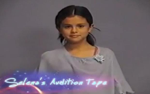 Selena Gomez, aos 12 anos de idade, faz teste para o canal Disney Channel (Foto: Reprodução/You Tube)
