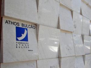 A fachada do restaurante Piantella, que leva a assinatura de Athos Bulcão