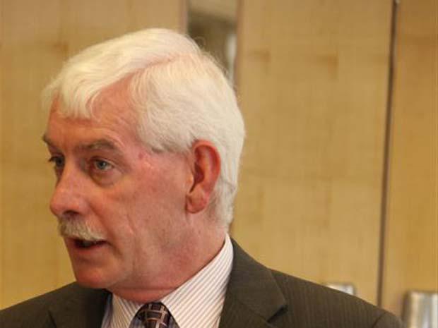 O cônsul-geral dos EUA em São Paulo, Thomas White, durante   entrevista nesta qunta-feira (15).