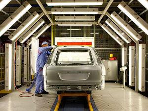 linha de produção Peugeot