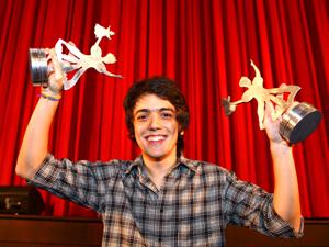 Francisco Miguez levou o prêmio de melhor ator.