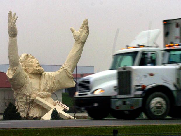 Estátua de Jesus Ohio raio