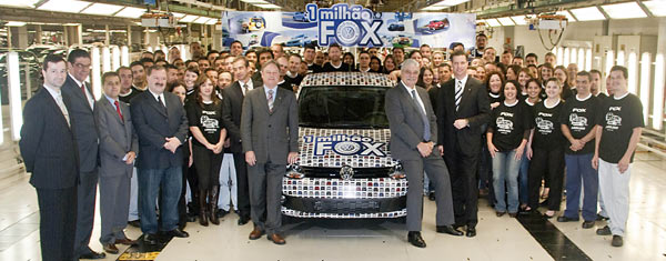 Volkswagen Fox atinge a marca de 1 milhão de unidades  produzidas