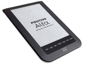 Leitor digital Positivo Alfa pesa 240 gramas
