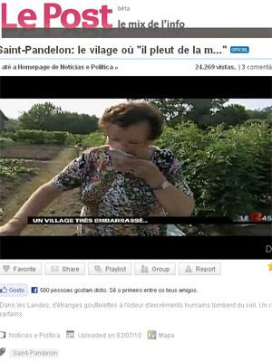 750 habitantes da localidade estão aterrorizados: 'chuva' deixou partes de Saint-Pandelon com ar irrespirável