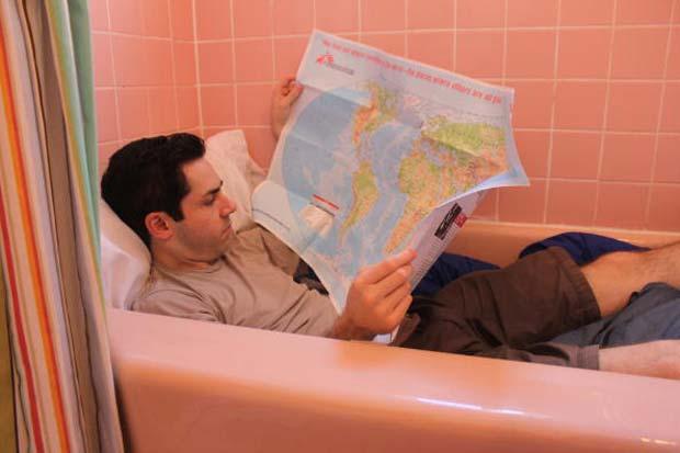 Mark Malkoff ficou trancado no banheiro por cinco dias.