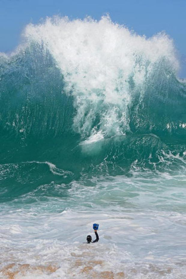 Clark Little descreveu a onda como a maior que já encontrou.