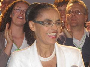 Marina Silva, durante coletiva após definição de segundo turno entre Dilma e Serra