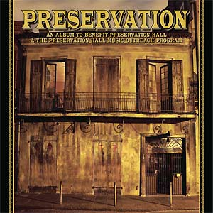 A capa do disco de 78 r.p.m. gravado ao lado da Preservation Hall Jazz Band