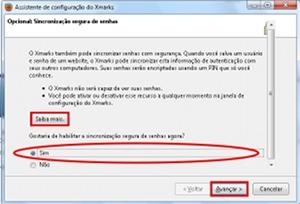 Configuração do Xmarks.