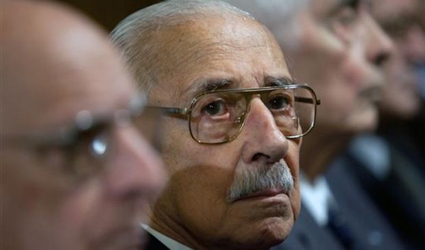 O ex-ditador argentino Jorge Rafael Videla, durante julgamento pela morte de 31 prisioneiros políticos em Córdoba, na Argentina, nesta terça (21) Argentina