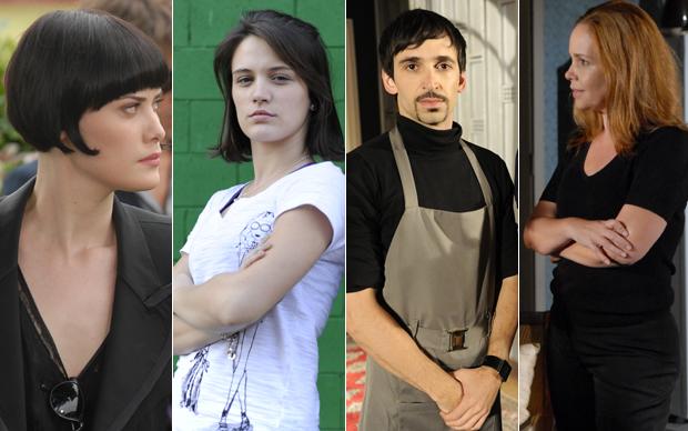 Mayana Moura, Bianca Bin, Júlio Andrade e Débora Duboc: para Silvio de Abreu novos atores surpreenderam em suas estreias no horário nobre.