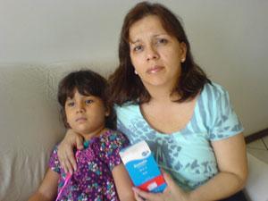 Marcia Barboza Barroso com a filha Manoela, de cinco anos. (Foto: Arquivo pessoal)