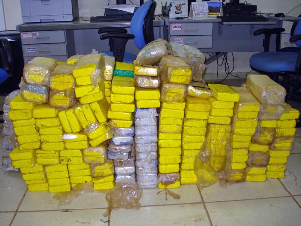 345 quilos de cocaína apreendidos em Mato Grosso (Foto: Divulgação/PRF)