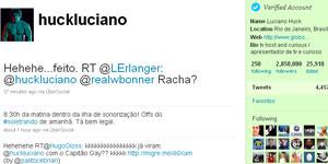 Twitter do apresentador Luciano Huck (Foto: Reprodução)
