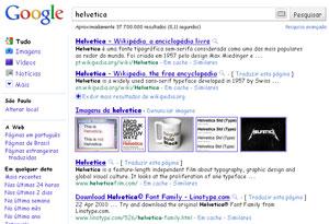 Google com fonte Helvetica (Foto: Reprodução)