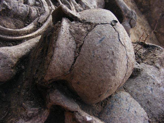 Homem homossexual pré-histórico 2 (Foto: Sociedade Arqueológica Tcheca / via BBC)