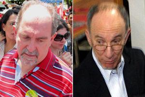 José Eduardo Dutra (esq.) e Rui Falcão  (Foto: G1 e Agência O Globo)