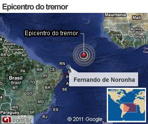 Terremoto no Atlântico (Foto: Arte/G1)