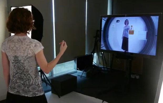 Provador loja Kinect (Foto: Reprodução)