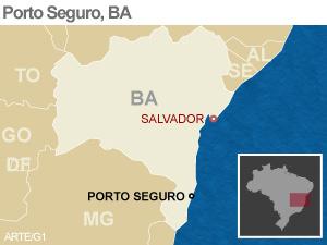 Veja local onde caiu helicóptero na Bahia (Foto: Editoria de Arte/G1)