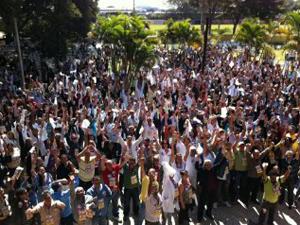 Servidores da saúde do DF deflaram greve geral a partir desta segunda (Foto: (Foto: G1 DF))