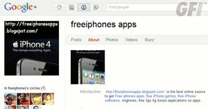 Perfil malicioso no Google+ oferece aplicativos piratas para iPhone (Foto: Reprodução/GFI)
