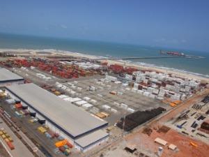 Porto do Pecém lidera ranking de exportação de calçados e frutas no Brasil (Foto: Cearáportos/ Divulgação)