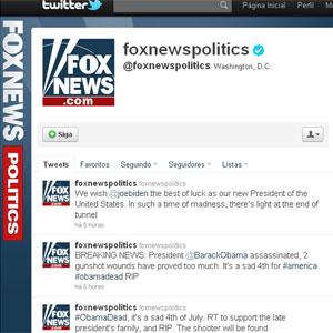 Conta no Twitter da Fox News foi hackeada e publicou falsa morte de Obama (Foto: Reprodução)
